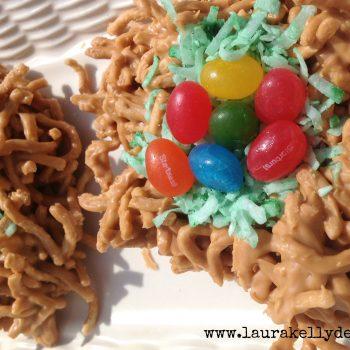 Bird Nest Jellybean Cookies