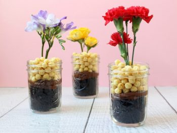 Flower Chocolate Cake Cups