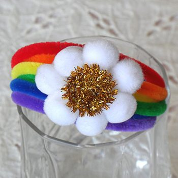 Pipe Cleaner Rainbow Bracelet
