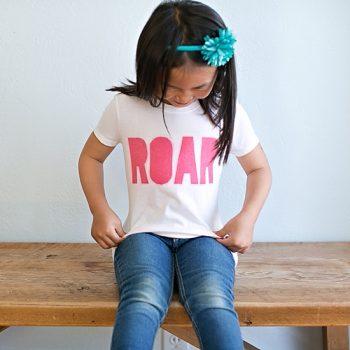 Screen Printed Roar Shirt