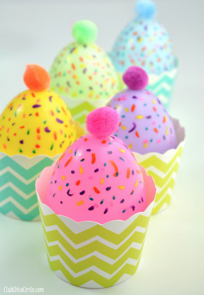 Plastic Egg Cupcakes Fun Family Crafts