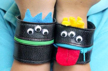 Zipper Monster Wallet Cuffs