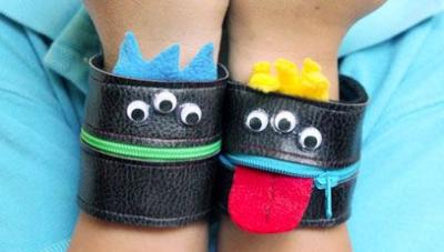 Zipper Monster Wallet Cuffs