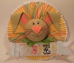 Easter Bunny Paper Medallion
