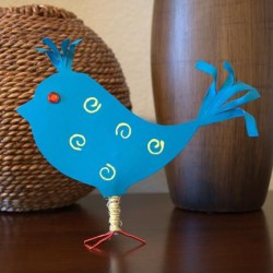 Recycled Plastic Bottle Spring Bird