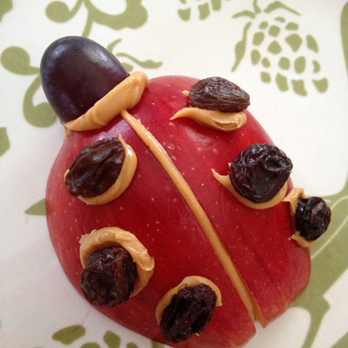 Ladybug Apple Snacks Fun Family Crafts