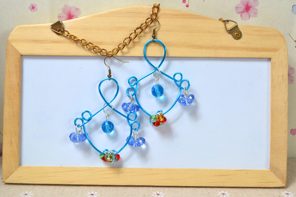 Fish-like Wire Earrings