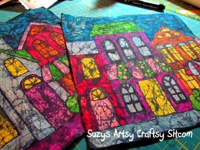 Batik Fabric from Crayons