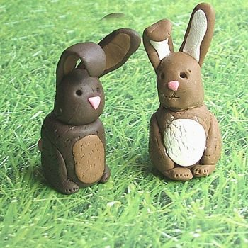 Little Clay Bunnies