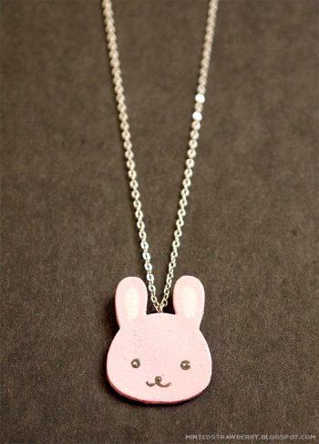 Shrink Plastic Bunny Charm