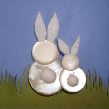 Button Easter Bunnies