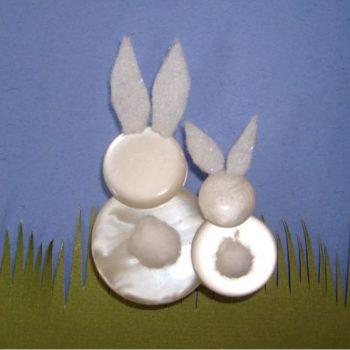 Button Easter Bunnies