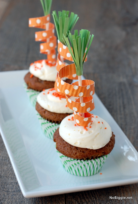 carrot cake decoration carrot cupcake toppers family crafts 2474