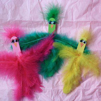 Craft Stick Spring Birds