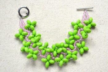Spring Beaded Cuff Bracelet