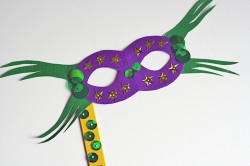 Duct Tape Mardi Gras Mask