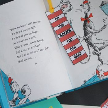 Dr. Seuss Bookmark and Reading Log Printable
