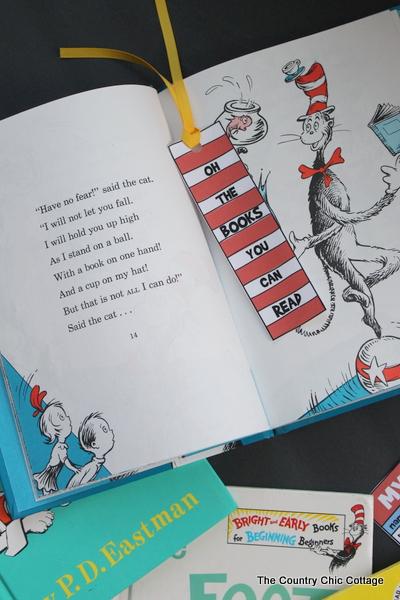 Dr. Seuss Bookmark and Reading Log Printable