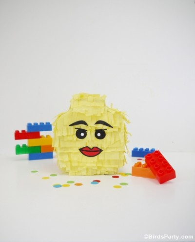 Individual-Sized Lego Head Pinata