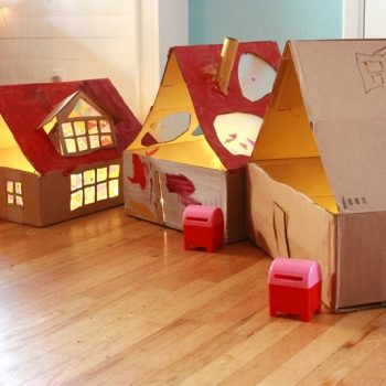 Lighted Cardboard Dollhouses