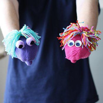 Mismatched Mitten Puppets