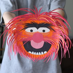Paper Plate Animal from The Muppets