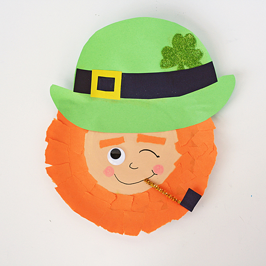Winking Paper Plate Leprechaun