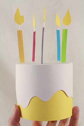 Birthday Cake Art And Craft : Paper Birthday Cake Box Fun Family Crafts