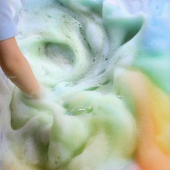 Rainbow Soap Foam Bubbles