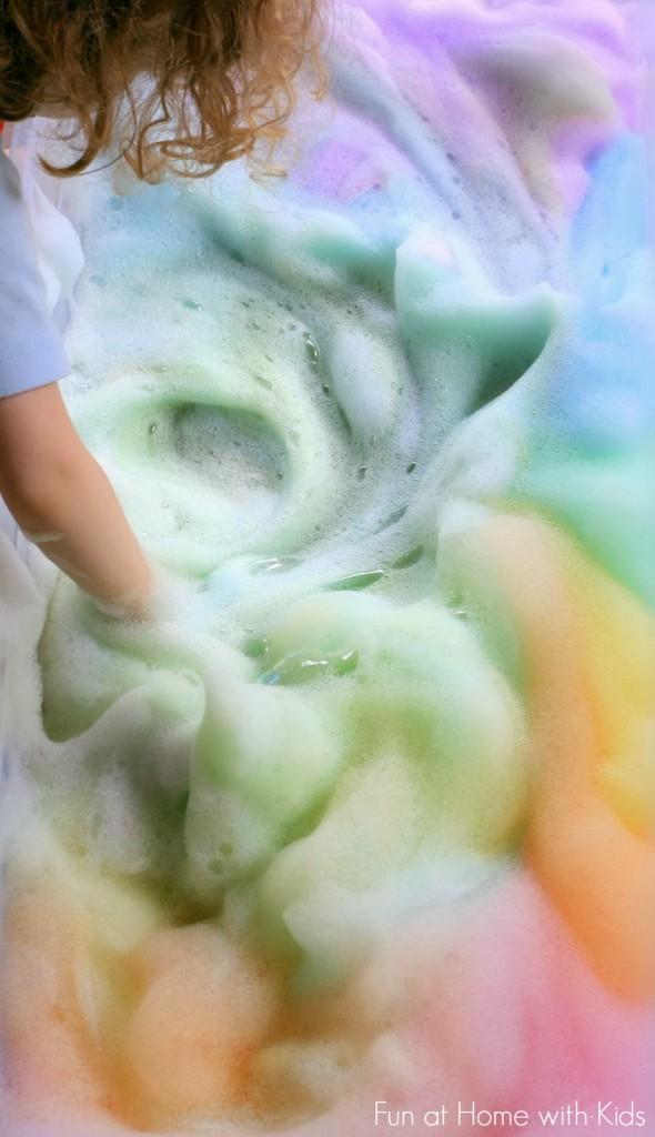 Rainbow Soap Foam Bubbles