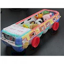 Egg Carton Bus