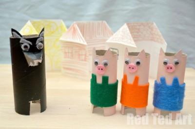 Three Little Pigs Playset