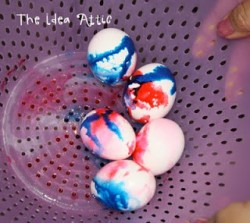 Easy Tie Dye Easter Eggs