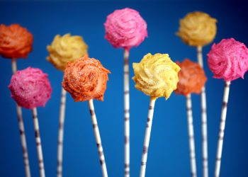 Truffula Tree Cake Pops