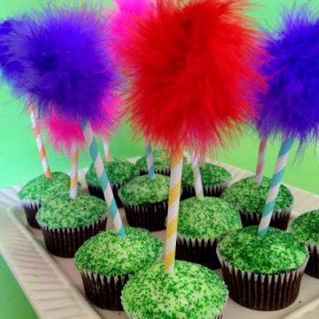 Truffula Tree Cupcakes