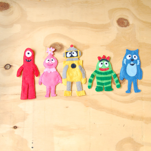 Yo Gabba Gabba Felt Magnets