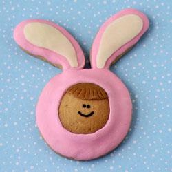 Cookie Kids in Pink Bunny Pajamas