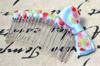 Ribbon Embellished Hair Comb