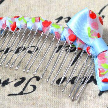 Ribbon Embellished Hair Comb