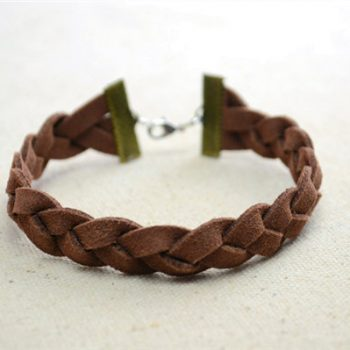 Suede Cord Braided Bracelet