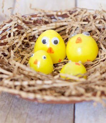 Plastic Easter Egg Chicks