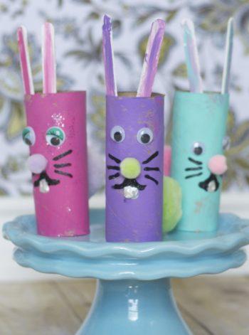 Cardboard Tube Easter Rabbits