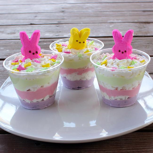 Layered Easter Yogurt Treats