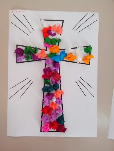 Colorful Easter Cross