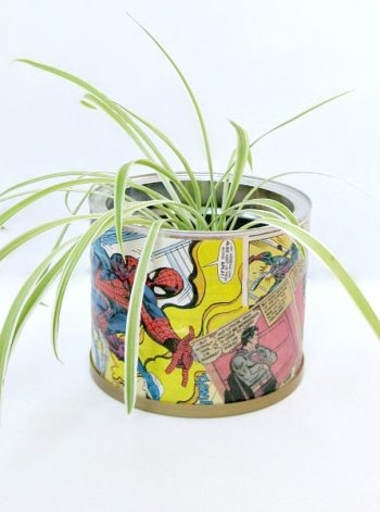 Upcycled Comic Book Can