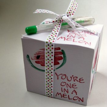 Teacher Appreciation Note Cubes