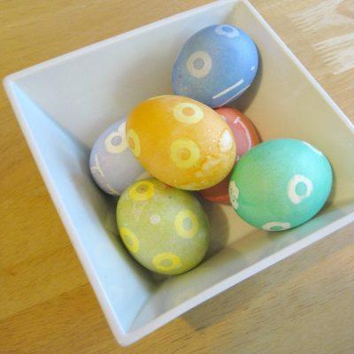 Easy Dyed Easter Egg Design