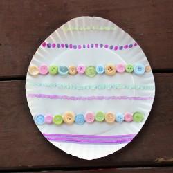 Paper Plate Easter Egg