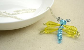 Beaded Dragonfly Pendant