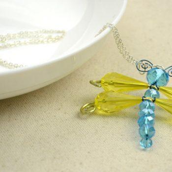 Beaded Dragonfly Pendant